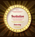 invitation with a gold decoration original design vector image vector image
