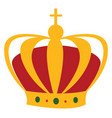 kings crown on white background vector image vector image
