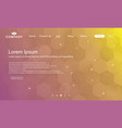 landing page geometry design vector image vector image