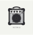 line flat color icon musical equipment - vector image