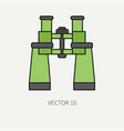 line flat color military icon army vector image vector image