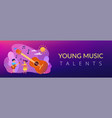 musical camp concept banner header vector image vector image
