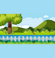 nature scene with river and hills vector image vector image
