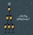 new years eve celebration black minimalistic vector image