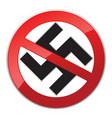 no nazi icon vector image vector image