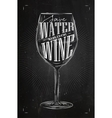 Poster drink wine chalk vector image vector image