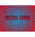 Red screen binary code screen vector image vector image