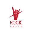 rock music i love you language hand sign backgroun vector image