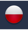 Round icon with flag of Poland vector image vector image
