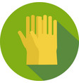 rubber gloves on a background vector image