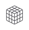 rubik cube line icon sign o vector image vector image
