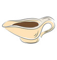 sauce holder hand drawn design on white vector image vector image