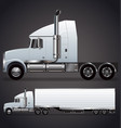 semi trailer truck long nose vector image