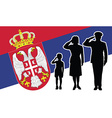 Serbia soldier family salute vector image vector image