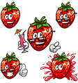 set cartoon character - Happy strawberry vector image