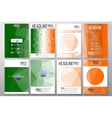 Set of business templates for brochure flyer or vector image