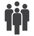staff flat icon symbol vector image