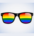 sunglasses abstract rainbow lenses vector image vector image