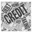 Taking on Credit Card Debt Word Cloud Concept vector image vector image