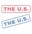 the us textile stamps vector image vector image