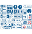 toilet signs set restroom wc stickers vector image vector image
