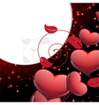 Valentines Day sparkling background vector image
