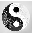 Yin yang pattern symbol vector image