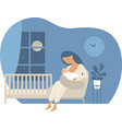 young mother breastfeeding her newborn baby vector image