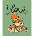 i love ice-cream retro poster vector image