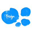 Watercolor colorful round spot vector image