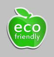 eco friendly logo in green apple vector image