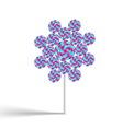 Flower lollypop vector image