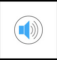 sound mode solid icon mobile sign and loud vector image