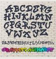 alphabet graffity alphabetical font abc by vector image