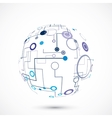 Abstract technology globe vector image vector image