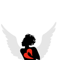 amur heart vector image vector image