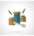 Baby nutrition flat color icon vector image vector image