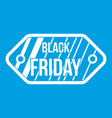 black friday sale tag icon white vector image vector image