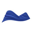 blue silk swirl ribbon with bow smooth satin vector image