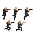 Body Guard Jumping Animation vector image