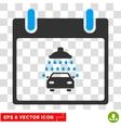 Car Shower Calendar Day Eps Icon vector image vector image