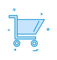 cart icon design vector image vector image