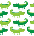 Cartoon crocodiles seamless pattern vector image
