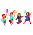 children nationalities with balloons vector image vector image