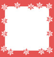 christmas and new year with white snowflakes vector image vector image