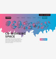 co working coworking space desktop landing page vector image