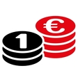 Coins one euro icon vector image vector image