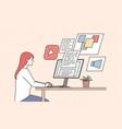 creativity remote work freelance concept vector image