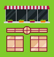 different types house windows elements flat style vector image vector image