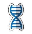 dna molecule isolated icon vector image vector image